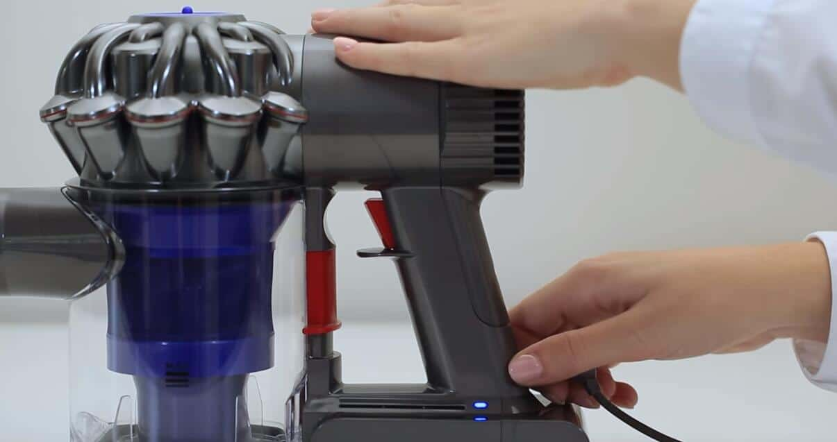 switch off and unplug the vacuum from its charging dock
