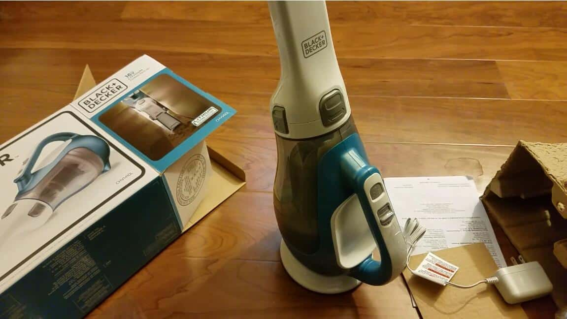 Get Hair off Clothes with cordless vacuum