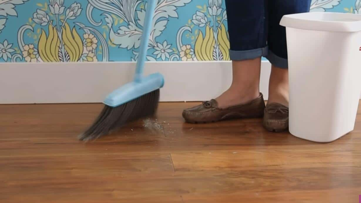 Start with a broom