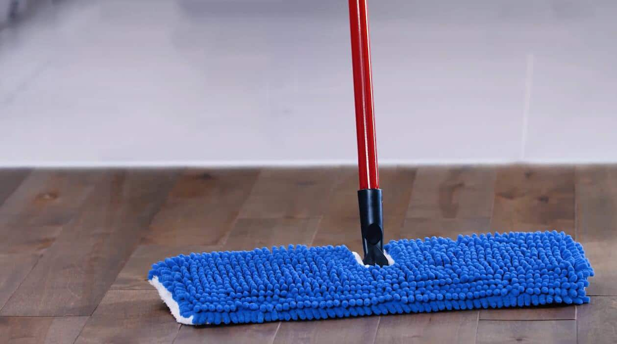 Use a dry microfiber mop