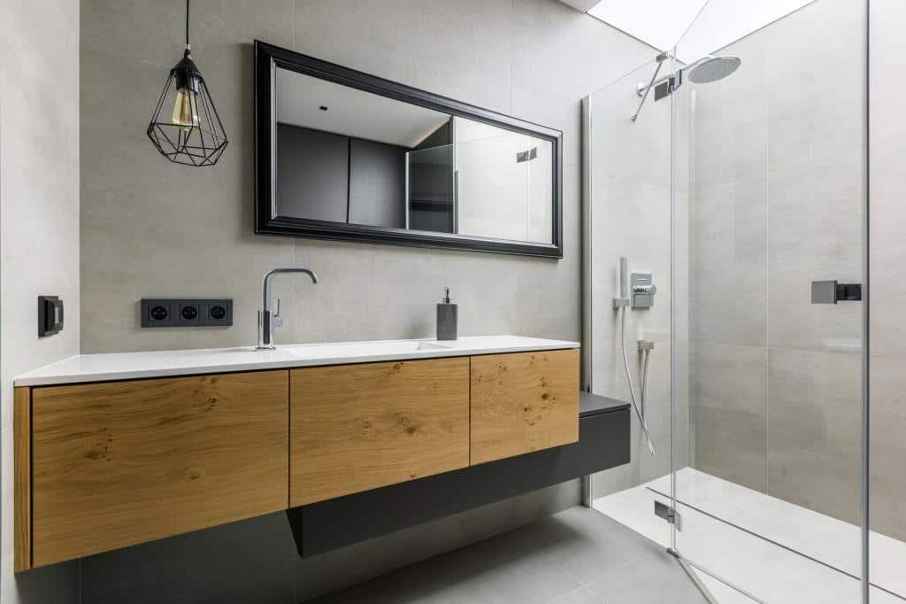 framed bathroom mirror ideas